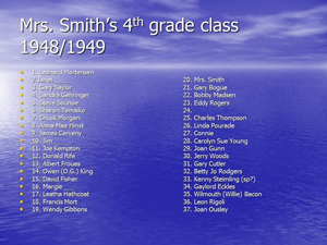 Mrs. Smiths 4th grade class 1948-49
