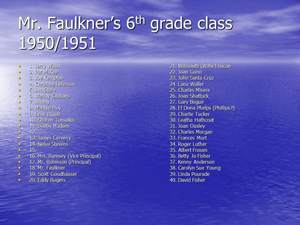 Mr. Faulkners 6th grade class 1950-51