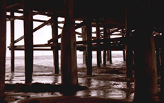Crystal Pier beneath 1972