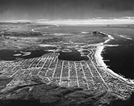 Mission Bay arial by Rozelle 1956